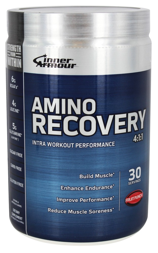 Inner Armour Blue - Amino Recovery 4:1:1 Fruit Punch - 6.4 oz.
