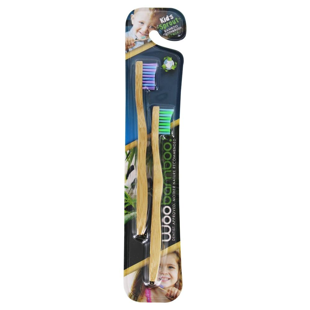 WooBamboo - Sprout Kids Super Soft Toothbrush - 2 Pack