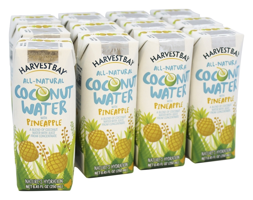 Harvest Bay - All-Natural Coconut Water RTD with Pineapple - 8.45 oz.