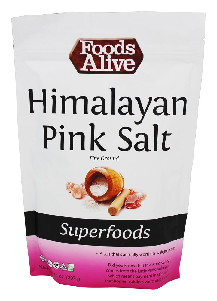 Foods Alive - Fine Ground Himalayan Pink Salt - 14 oz.