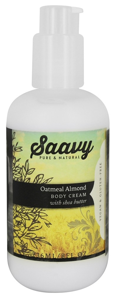 Saavy Naturals - Shea Butter Body Cream Oatmeal Almond - 8 oz.