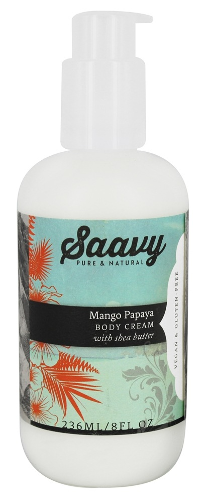 Saavy Naturals - Shea Butter Body Cream Mango Papaya - 8 oz.