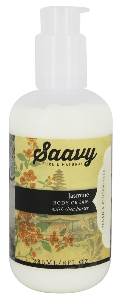 Saavy Naturals - Shea Butter Body Cream Jasmine - 8 oz.