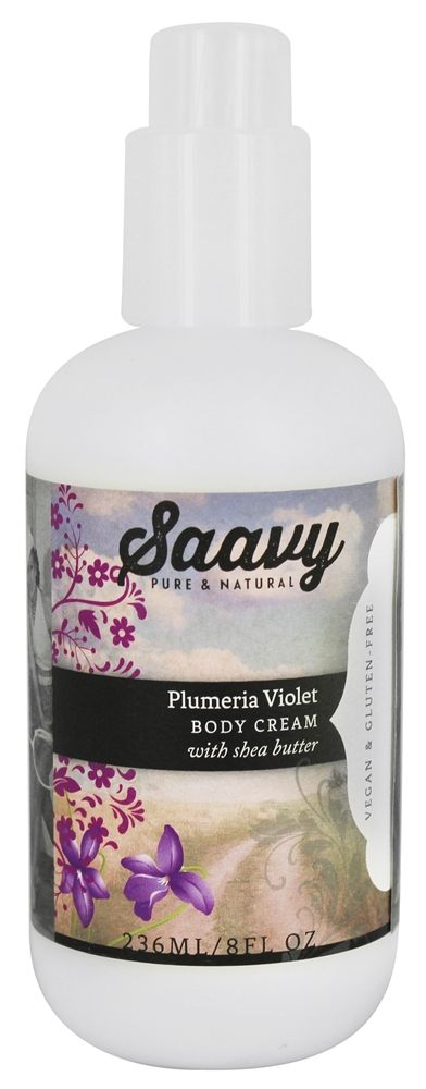 Saavy Naturals - Shea Butter Body Cream Plumeria Violet - 8 oz.