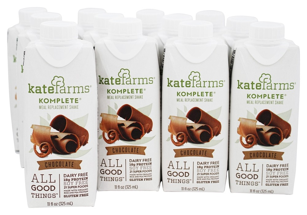 Kate Farms - Komplete Meal Replacement Shake Chocolate - 12 Pack