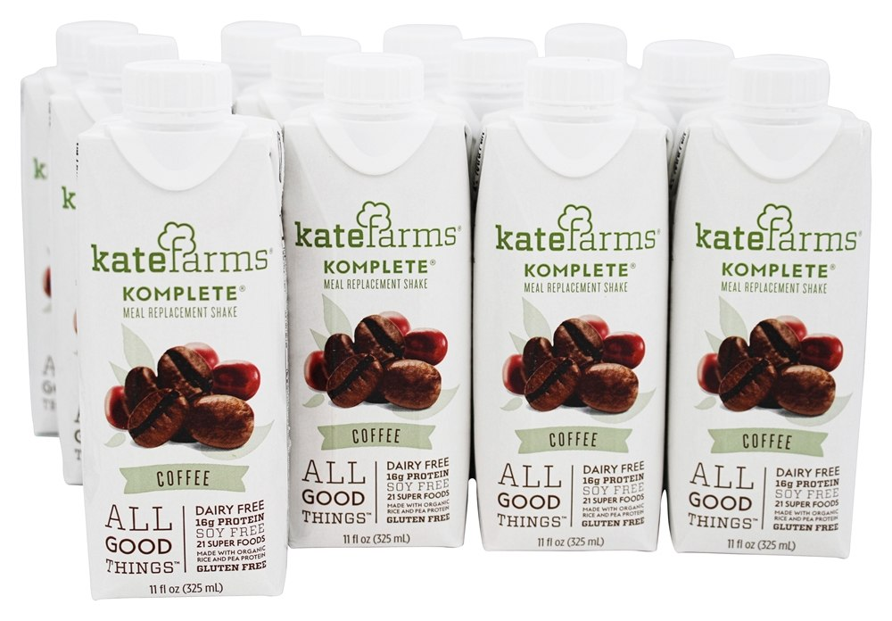 Kate Farms - Komplete Meal Replacement Shake Coffee - 12 Pack