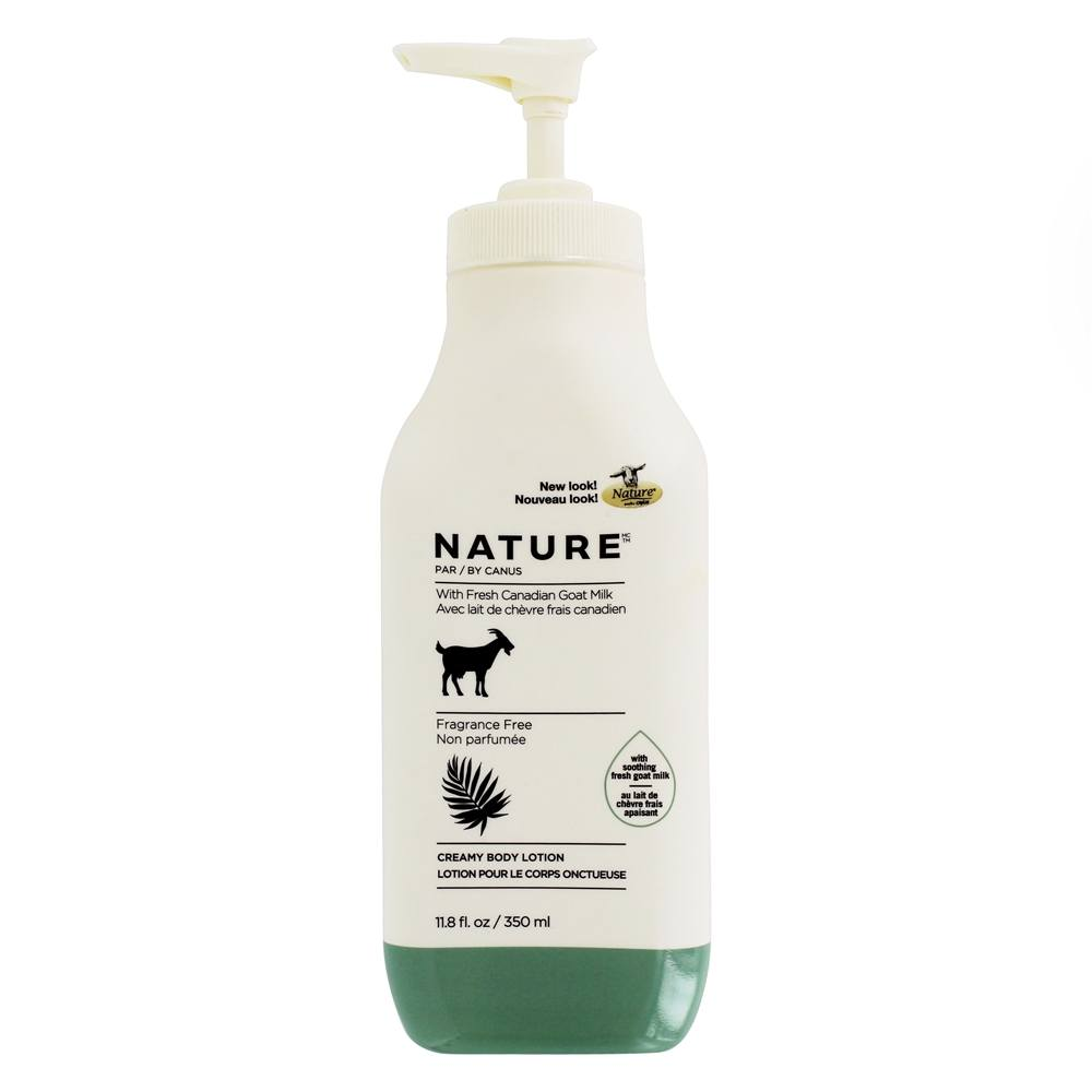 Canus - Nature Moisturizing Lotion with Fresh Goat's Milk Fragrance Free - 11.8 oz.