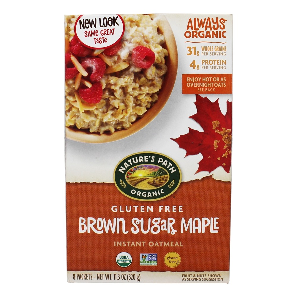 Nature's Path Organic - Instant Hot Oatmeal Brown Sugar Maple - 11.3 oz.