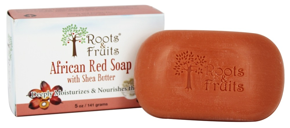 Roots & Fruits - African Red Soap with Shea Butter Moisturizing & Nourishing - 5 oz.