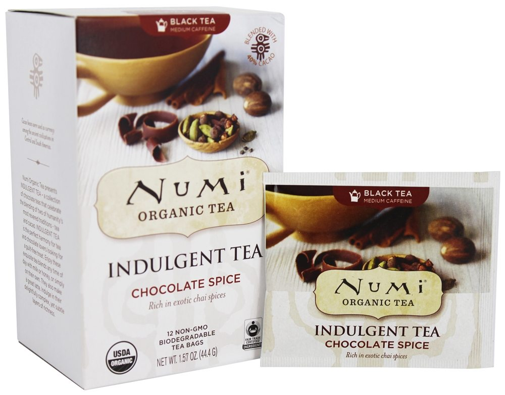 Numi Organic - Indulgent Tea Chocolate Spice - 12 Tea Bags