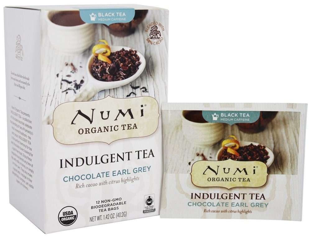 Numi Organic - Indulgent Tea Chocolate Earl Grey - 12 Tea Bags