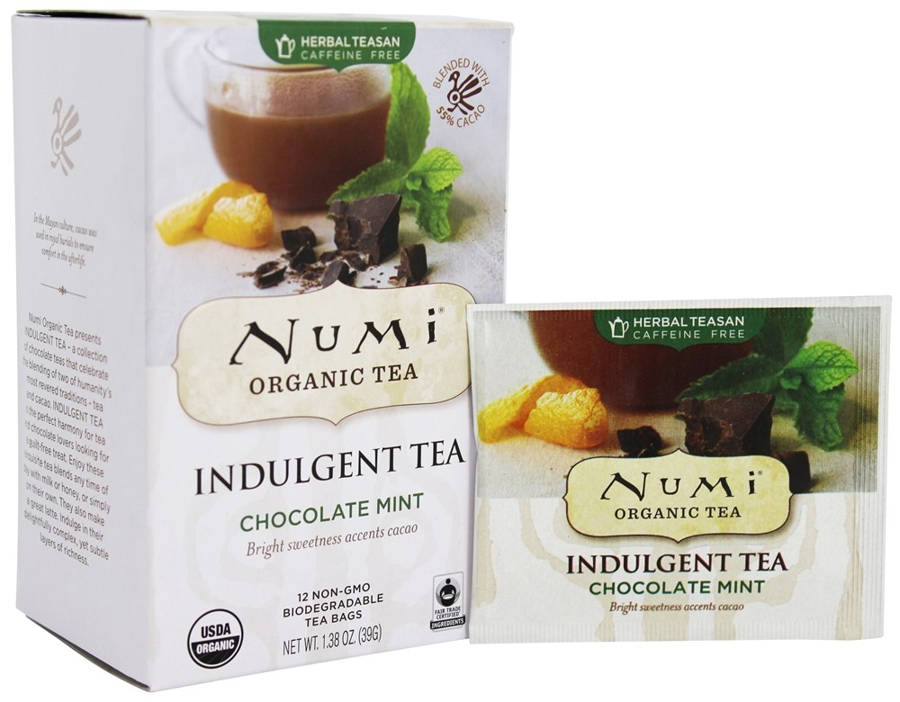 Numi Organic - Indulgent Tea Chocolate Mint - 12 Tea Bags