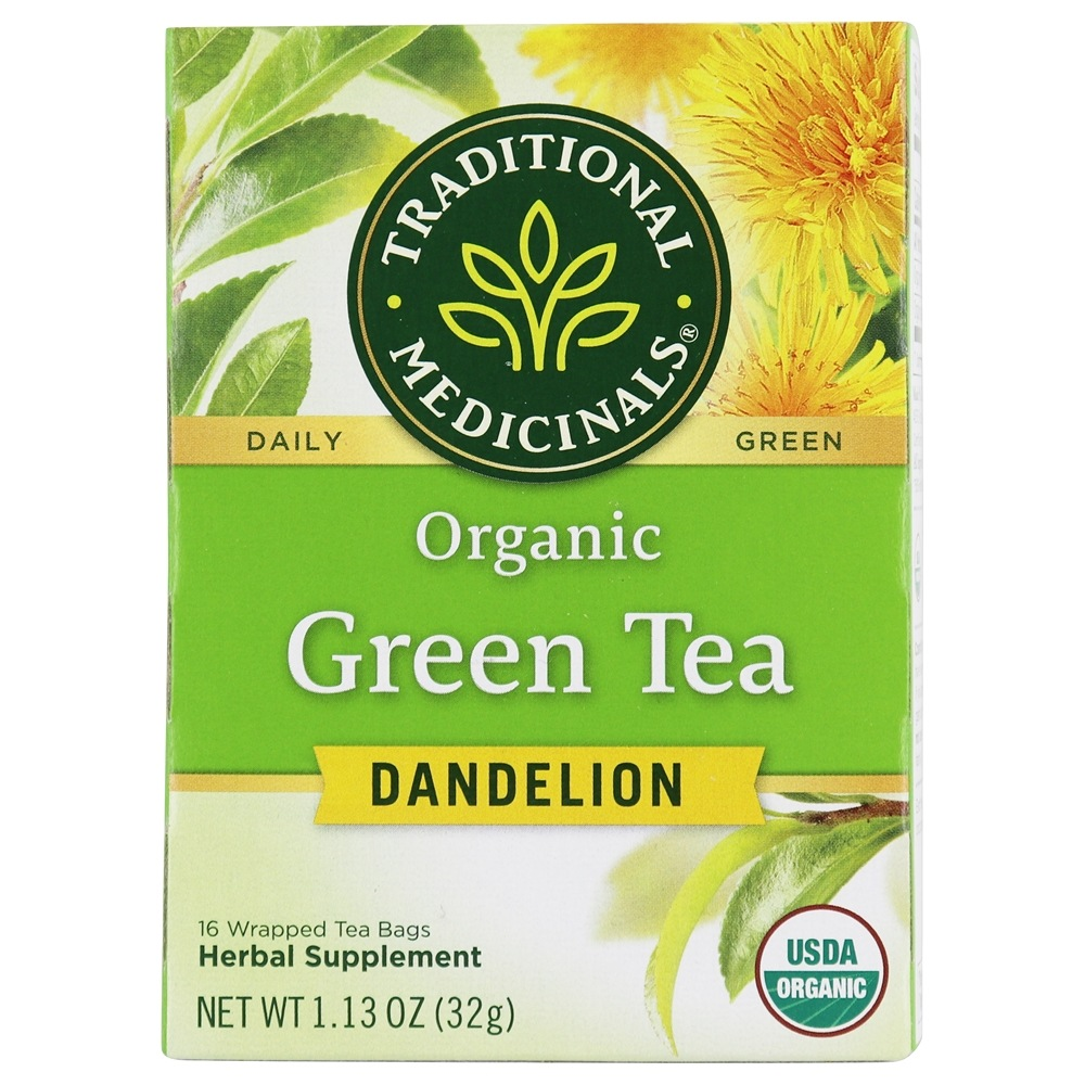 Traditional Medicinals - Organic Green Tea Dandelion - 16 Tea Bags