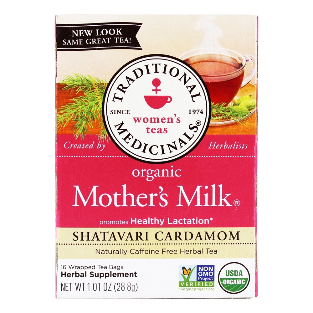 Traditional Medicinals - Organic Mother's Milk Caffeine Free Tea - 16 Tea Bags