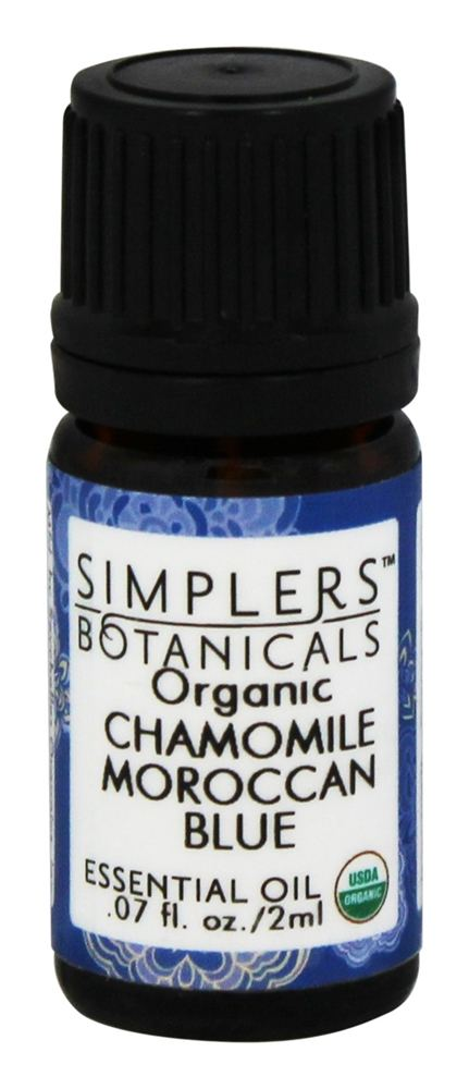 Simplers Botanicals - Organic Essential Oil Chamomile Moroccan Blue - 2 ml.
