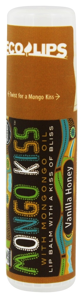 Eco Lips - Mongo Kiss Lip Balm Vanilla Honey - 0.25 oz.