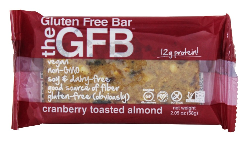 The GFB - The Gluten Free Bar Cranberry Toasted Almond - 2.05 oz.