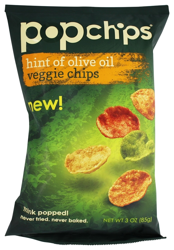 Popchip - Veggie Chips Hint of Olive Oil - 3 oz.