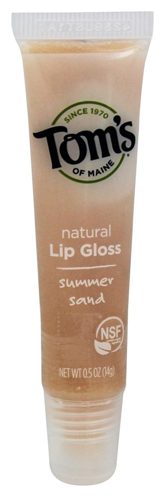 Tom's of Maine - Natural Lip Gloss Summer Sand - 0.5 oz.