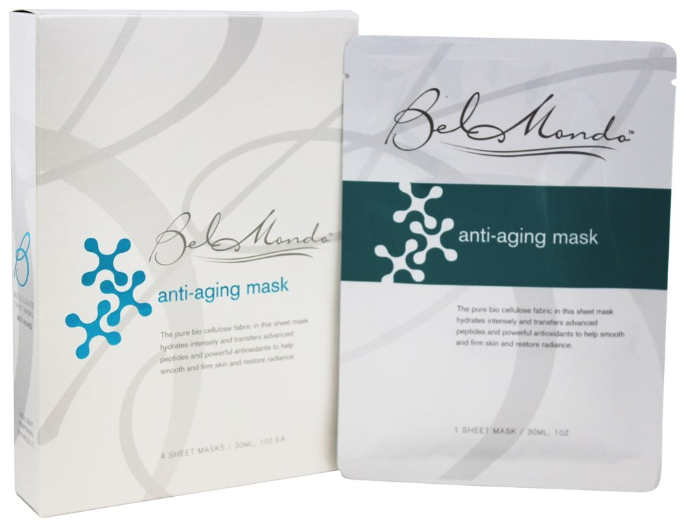 Bel Mondo Beauty - Anti-Aging Facial Sheet Masks - 4 Sheet(s)