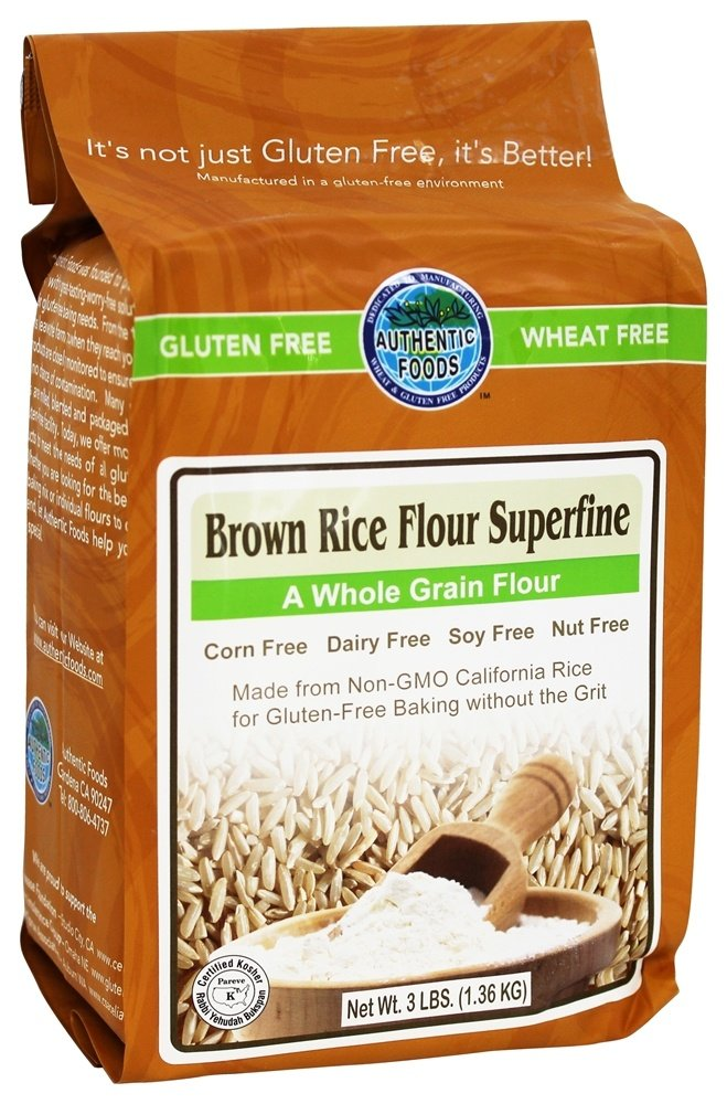 Authentic Foods - Gluten Free Superfine Brown Rice Flour - 3 lbs.