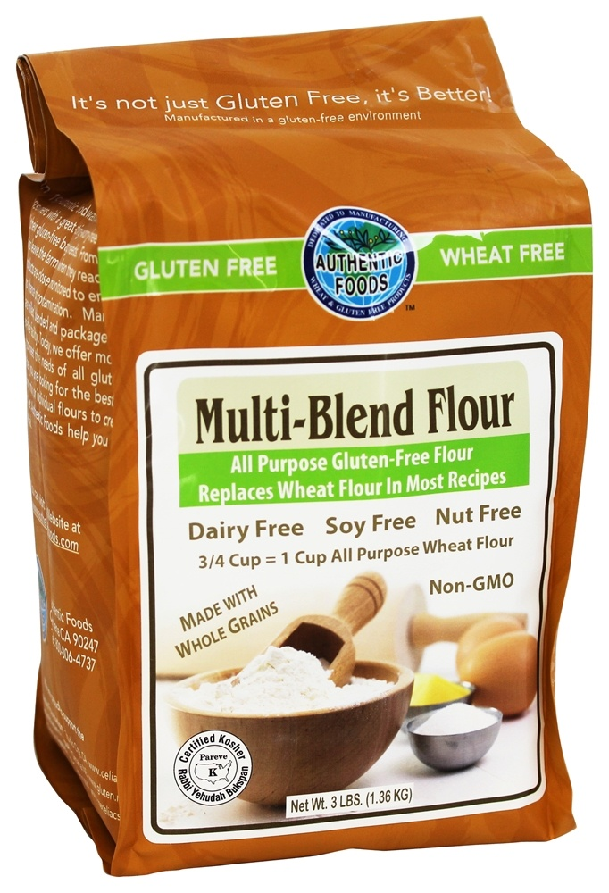 Authentic Foods - Gluten Free Multi-Blend Flour - 3 lbs.