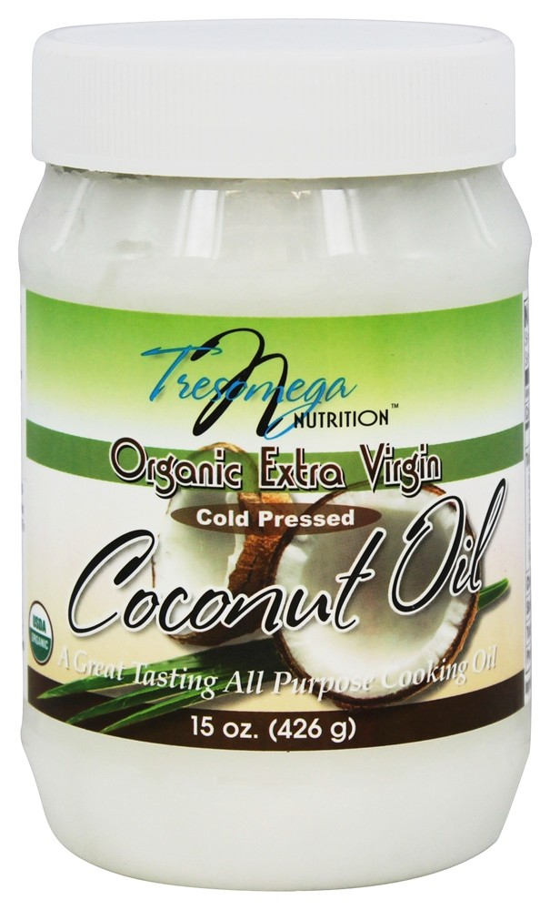 TresOmega Nutrition - Organic Extra Virgin Coconut Oil - 15 oz.