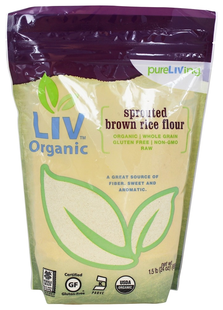 Pure Living - Liv Organic Sprouted Brown Rice Flour - 1.5 lb.