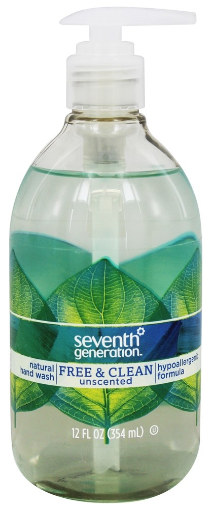 Seventh Generation - Natural Hand Wash Free & Clean Unscented - 12 oz.