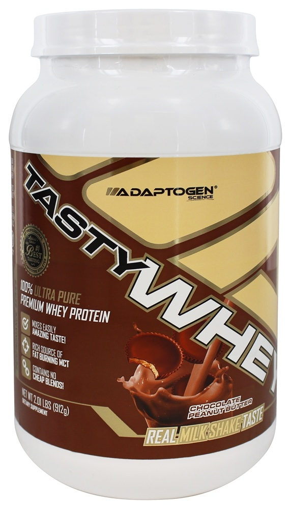 Adaptogen Science - TastyWHEY 100% Ultra Pure Premium Whey Protein Chocolate Peanut Butter - 2.01 lbs.