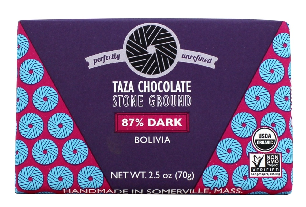 Taza Chocolate - 87% Dark Stone Ground Organic Chocolate Bar - 3 oz.
