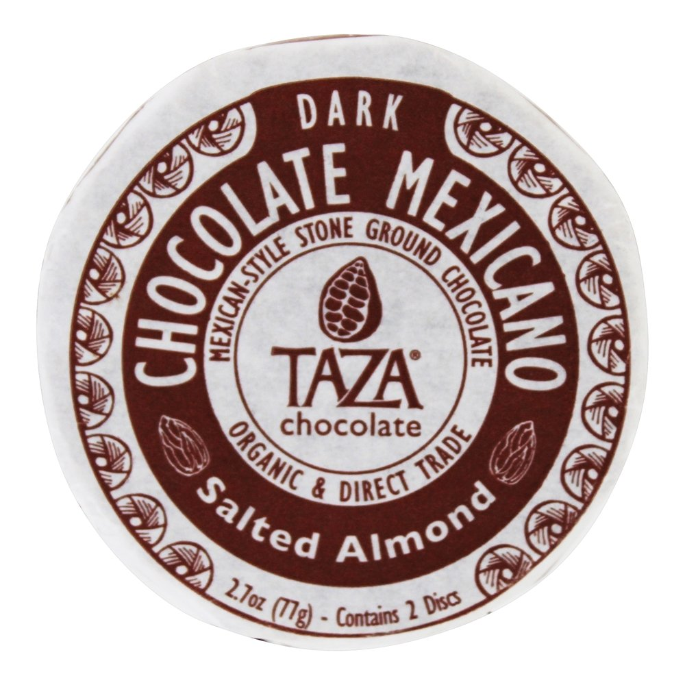 Taza Chocolate - Mexicano Disc 40% Dark Mexican-Style Stone Ground Chocolate Salted Almond - 2 Disc(s)