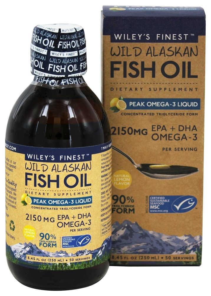 Wiley's Finest - Wild Alaskan Fish Oil Peak Omega-3 Liquid Natural Lemon - 8.45 oz.