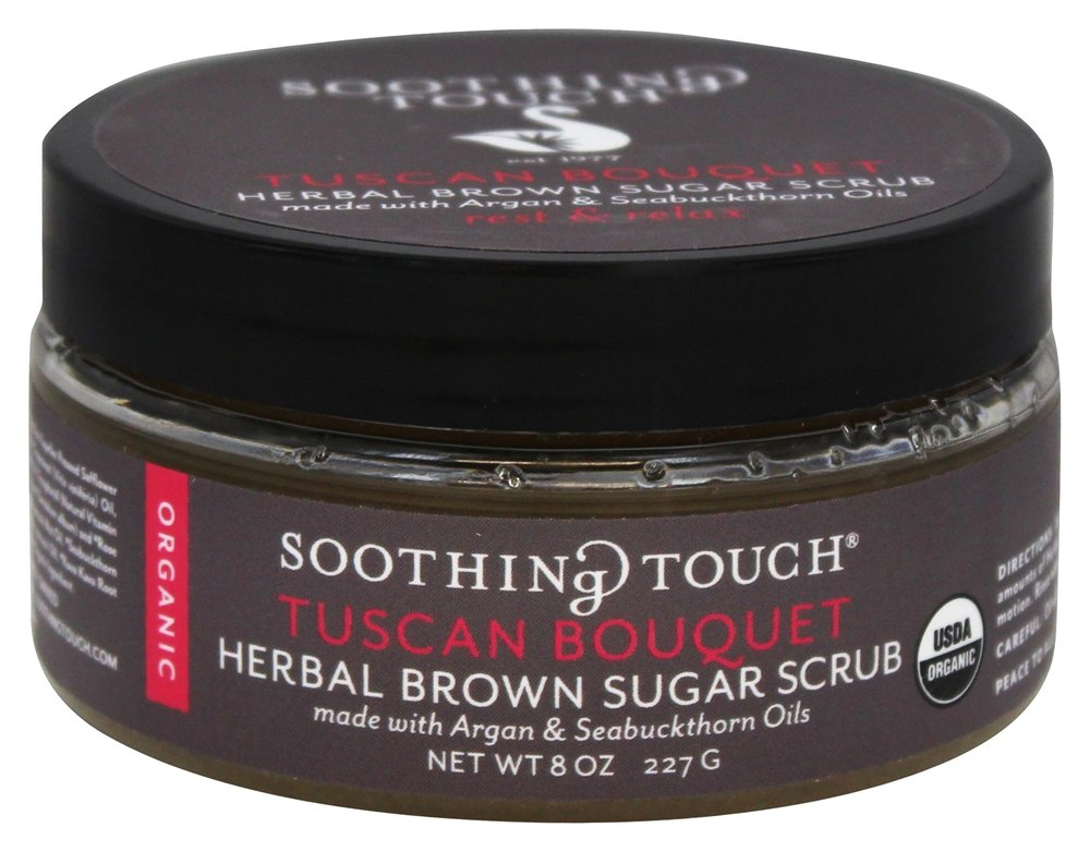 Soothing Touch - Organic Herbal Brown Sugar Scrub Rest & Relax Tuscan Bouquet - 8 oz. LUCKY PRICE