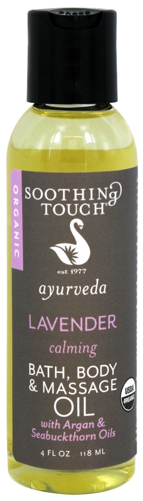 Soothing Touch - Ayurveda Organic Bath, Body & Massage Oil Calming Lavender - 4 oz. LUCKY PRICE
