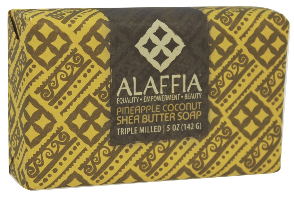 Alaffia - Classic Triple Milled Shea Butter Soap Pineapple Coconut - 5 oz.