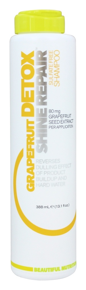 Beautiful Nutrition - Grapefruit Detox Shine Repair Sulfate Free Shampoo 80mg Grapefruit Seed Extract - 13.1 oz.