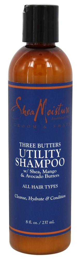 Shea Moisture - Three Butters Utility Shampoo for Men - 8 oz.