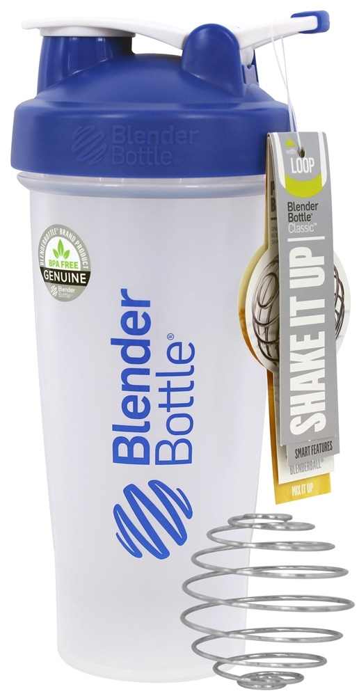 Blender Bottle - Classic Shaker Bottle with Loop Blue - 28 oz. By Sundesa