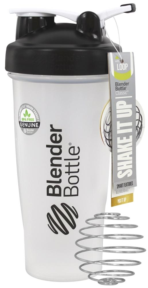 Blender Bottle - Classic Shaker Bottle with Loop Black - 28 oz. By Sundesa