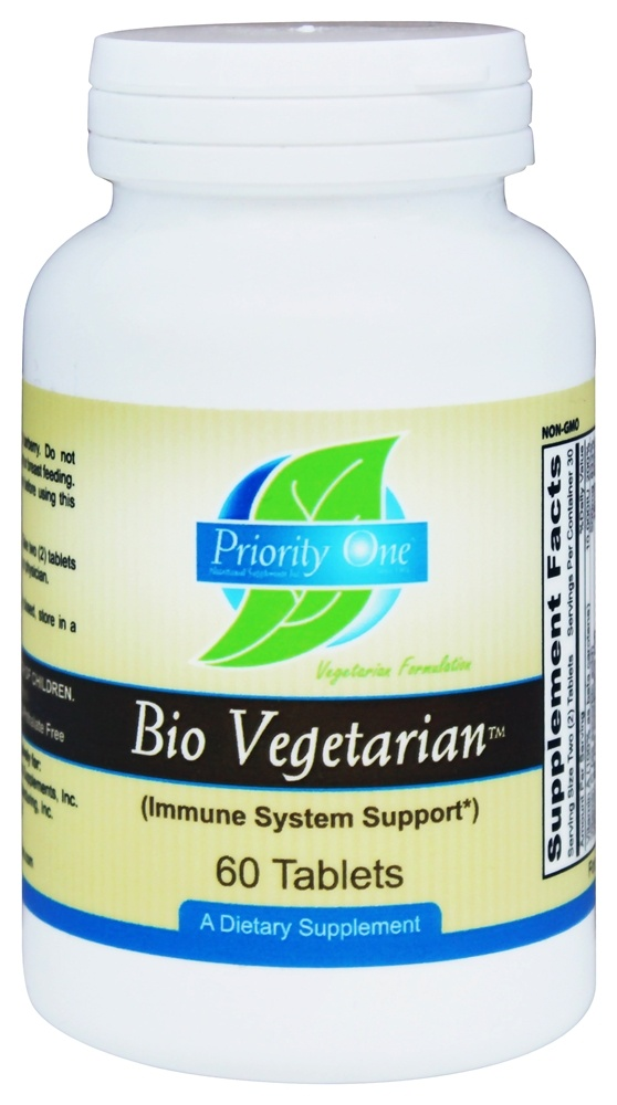 Priority One - Bio Vegetarian - 60 Tablets
