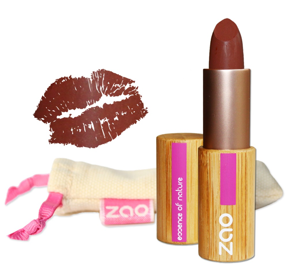 Zao Organic Makeup - Matte Lipstick Chocolate 466 - 0.18 oz.