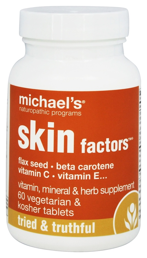 Michael's Naturopathic Programs - Skin Factors - 60 Vegetarian Tablets