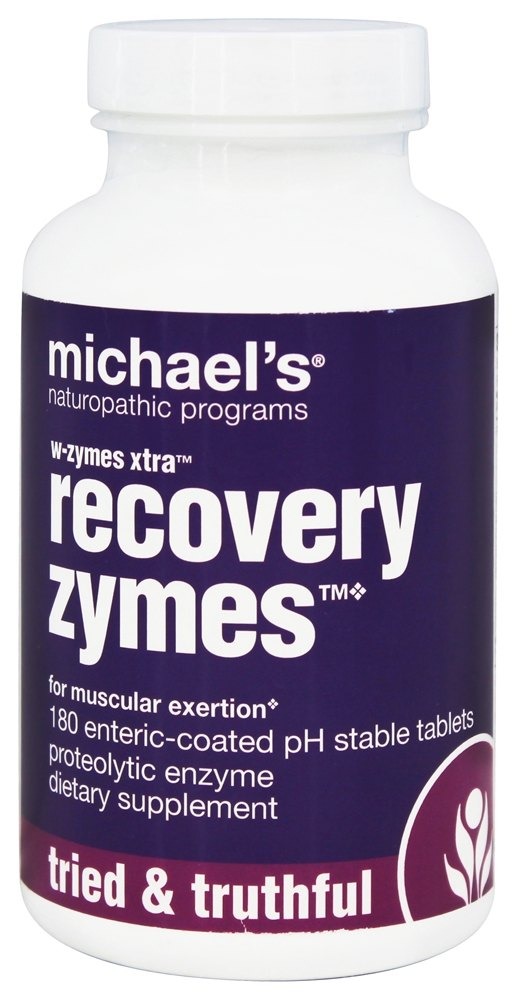 Michael's Naturopathic Programs - W-Zymes Xtra Recovery Zymes - 180 Enteric-Coated Tablets