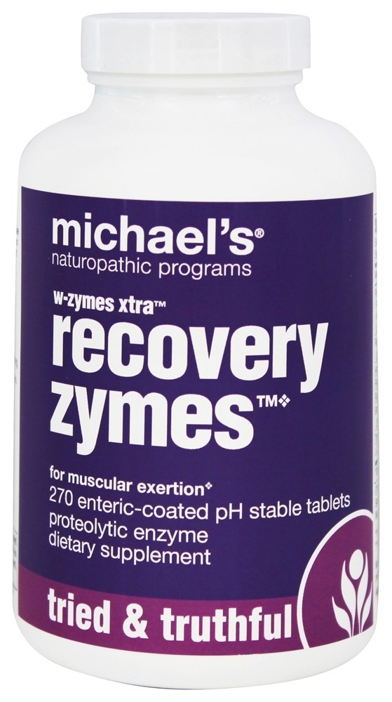 Michael's Naturopathic Programs - W-Zymes Xtra Recovery Zymes - 270 Enteric-Coated Tablets