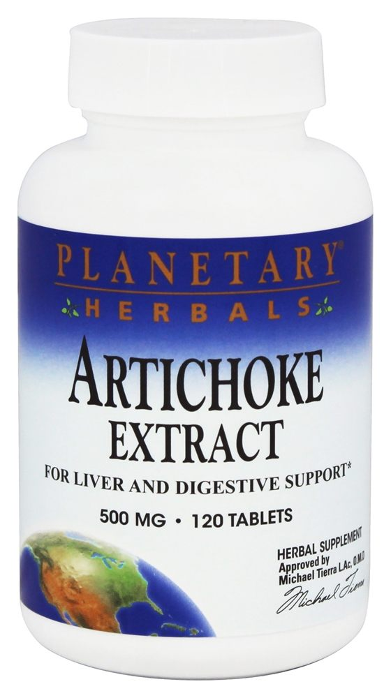 Planetary Herbals - Artichoke Extract 500 mg. - 120 Tablets