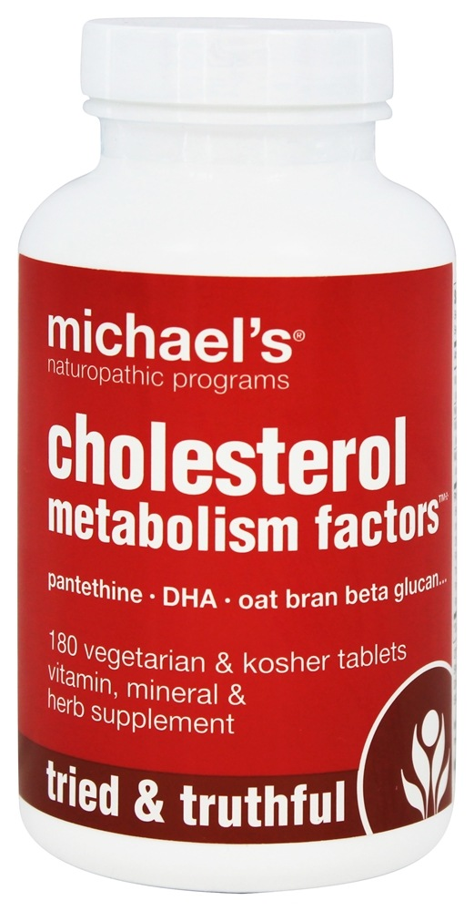 Michael's Naturopathic Programs - Cholesterol Metabolism Factors - 180 Vegetarian Tablets