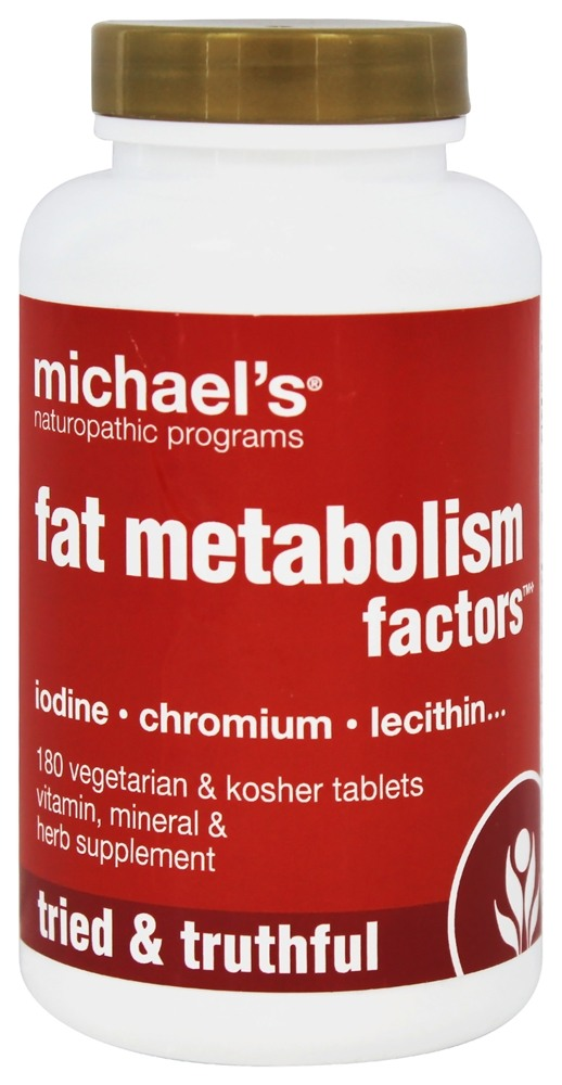 Michael's Naturopathic Programs - Fat Metabolism Factors - 180 Vegetarian Tablets