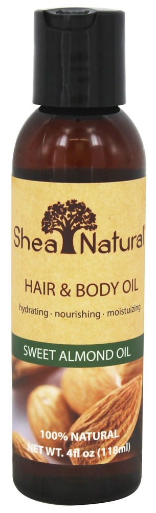 Shea Natural - Hair & Body Oil Sweet Almond Oil - 4 oz.