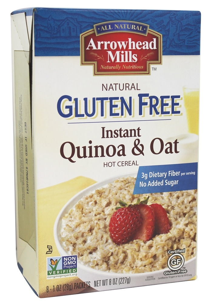 Arrowhead Mills - Gluten Free Instant Quinoa & Oat Hot Cereal - 8 x 1 oz (28 g) Packets